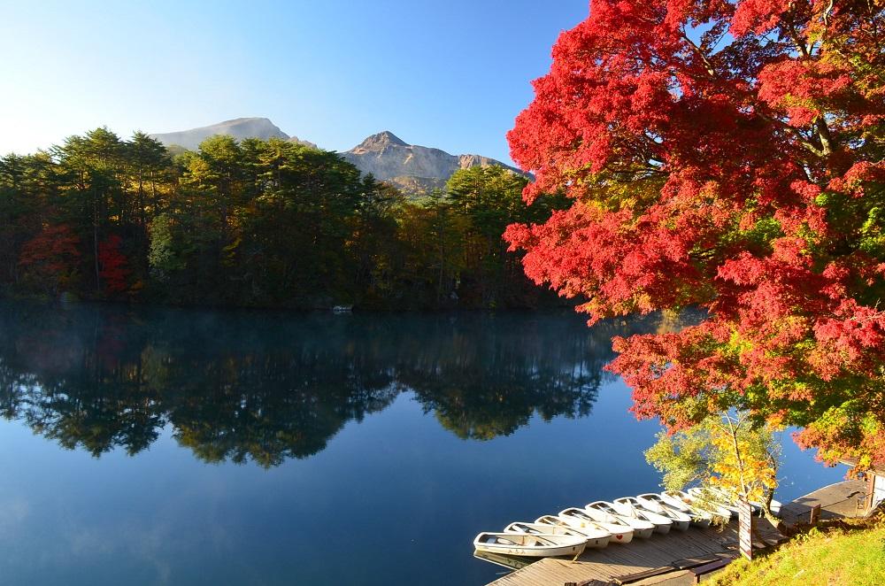 秋の五色沼の写真